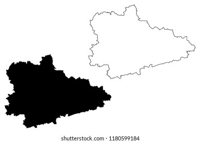 Kurgan Oblast (Russia, Subjects of the Russian Federation, Oblasts of Russia) map vector illustration, scribble sketch Kurgan Oblast map