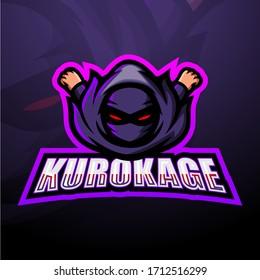 Kurokage mascot esport logo design