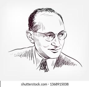 Kurt Lewin vector sketch illustration