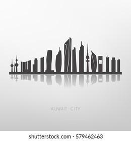 Kuwait city skyline buildings