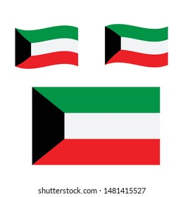kuwait flag. Simple vector. National flag of kuwait