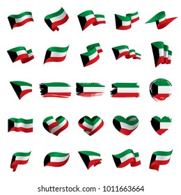 Kuwait flag, vector illustration