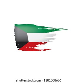 Kuwait flag, vector illustration on a white background.