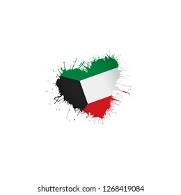 Kuwait flag, vector illustration on a white background