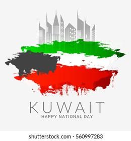Kuwait Happy National Day Background.