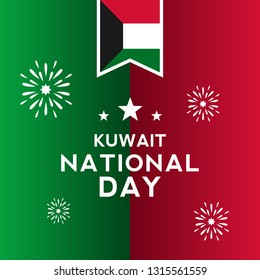 Kuwait Independence Day Vector Design, Kuwait National Day