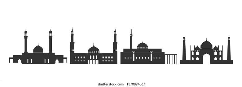 Kuwait logo. Isolated Kuwait architecture on white background