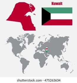 Kuwait World Map Images Stock Photos Vectors Shutterstock