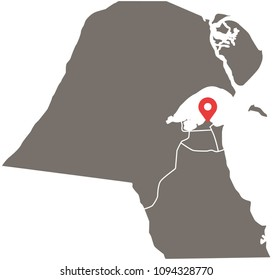 Arab world map stock vectors images vector art shutterstock kuwait map vector outline illustration with provinces or states borders and capital location kuwait city gumiabroncs Images