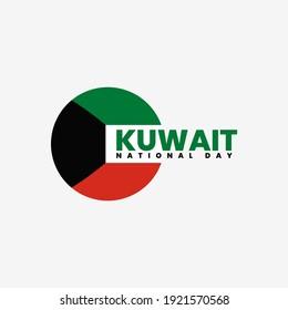 Kuwait national day flat vektor