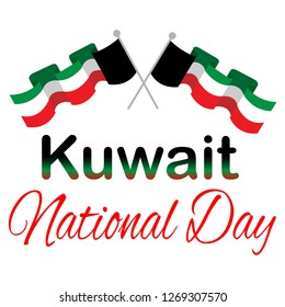Kuwait national day, great design for any purposes. Kuwait flag vector. National day logo.