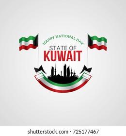 Kuwait National Day Vector Illustration.