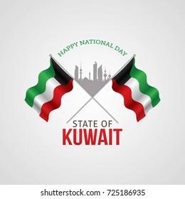 Kuwait National Day Vector Illustration
