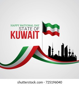 Kuwait National Day Vector Illustration