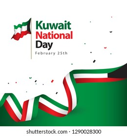 Kuwait National Day Vector Template Design Illustration