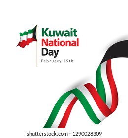Kuwait National Day Vector Template Design Illustration