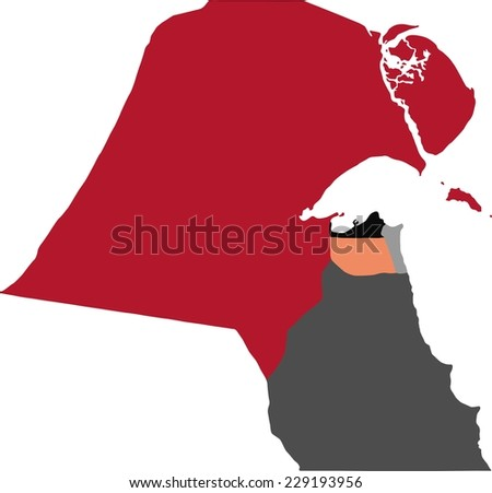 Kuwait Political Map.Kuwait Political Map Pastel Colors Stock Vector Royalty Free