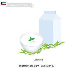 Kuwaiti Cuisine, Laban or Fermented Milk. One of The Most Popular Drink in Kuwait.