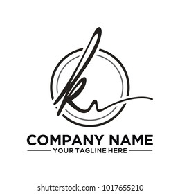 KV inisial logo for photography and other business