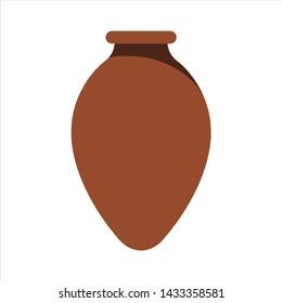 Kvevri. Large earthenware vessel used for traditional Georgian wine. Vector illustration.