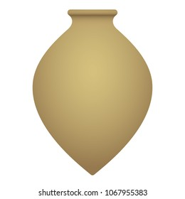 Kvevri vector illustration. Traditional Georgian clay vessel Qvevri, isolated on a white background.