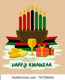 kwanzaa celebration illustrations that can be used as a simple gift card design and simple posters. this is simple design and comfortable views.