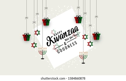 Kwanzaa greeting card or background. vector illustration.