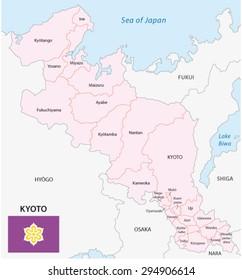 Kyoto prefecture map