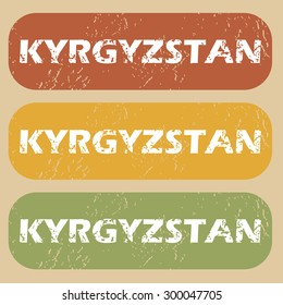 Kyrgyzstan on colored background