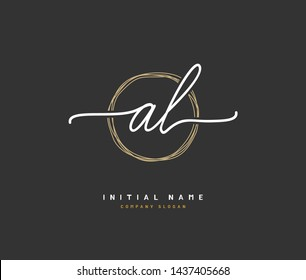 A L AL Beauty vector initial logo, handwriting logo of initial signature, wedding, fashion, jewerly, boutique, floral and botanical with creative template for any company or business.