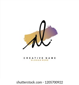 A L AL Initial abstract logo concept vector