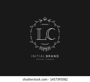 L C LC Beauty vector initial logo, handwriting logo of initial signature, wedding, fashion, jewerly, boutique, floral and botanical with creative template for any company or business.