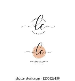 L C LC Initial logo template vector