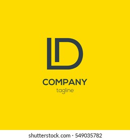 L & D  Letter logo design vector element