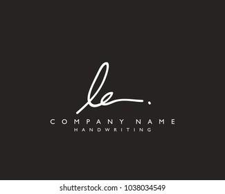 L E Initial handwriting logo