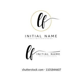 L F Initial handwriting logo vector. Hand lettering for designs.