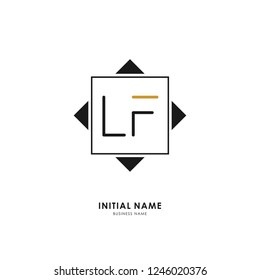 L F LF Initial logo letter with minimalist concept. Vector with scandinavian style logo.