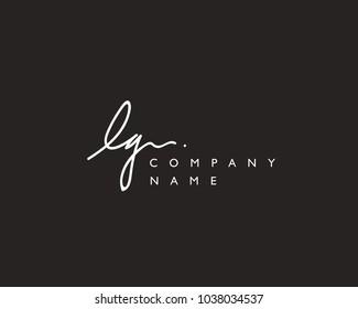 L G Initial handwriting logo