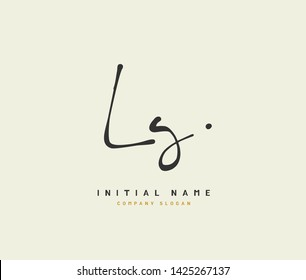 L G LG Beauty vector initial logo, handwriting logo of initial signature, wedding, fashion, jewerly, boutique, floral and botanical with creative template for any company or business.