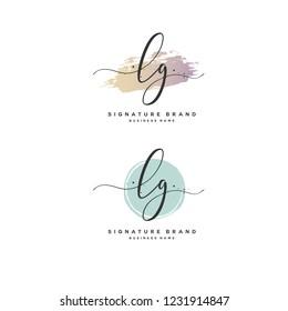 L G LG Initial logo template vector
