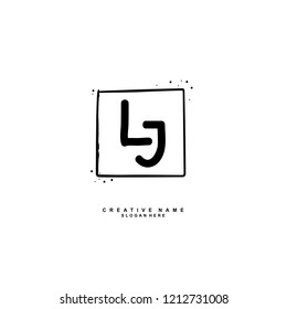 L J LJ Initial abstract logo concept vector