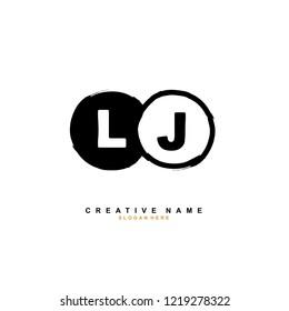 L J LJ Initial logo template vector