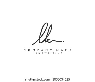 L K Initial handwriting logo