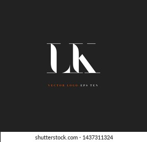 L & K letters Joint logo icon vector for business card and corporate identity.