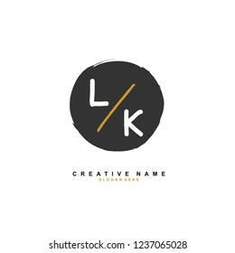 L K LK Initial logo template vector. Letter logo concept
