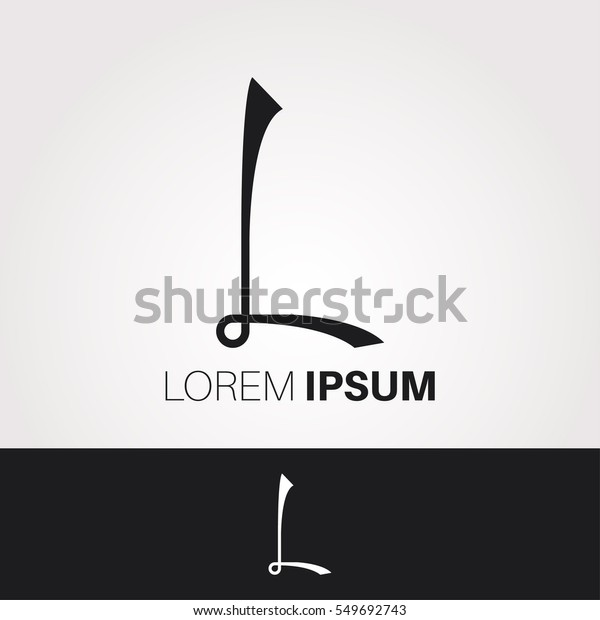 L Letter Abstract Vector Logo Design Stock Vector (Royalty
