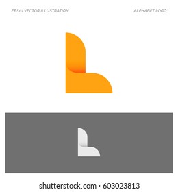 L Letter Alphabet Abstract vector text logo