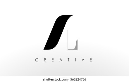 A L Letter Logo Design. Creative Modern AL Letters Icon Illustration.