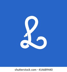 L letter logo formed by shoe lace. Vector design template elements for your sport application or corporate identity.