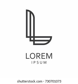 L Letter Logo. Vector Icon